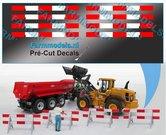8x-Verdrijvingsbord--afzetting-Verkeer-stickers-ong.-5.9-x-78mm--Pré-Cut-Decals-1:32-Farmmodels.nl