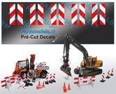 10x-Verdrijvingsbord--afzetting-Verkeer-stickers-ong.-7.4-x-28.3-mm---Pré-Cut-Decals-1:32-Farmmodels.nl