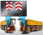 4x-Breedte--Verdrijvingsbord---Verkeer-(o.a.-Vredo)-stickers-ong.-5.5-x-17.5-mm---Pré-Cut-Decals-1:32-Farmmodels.nl