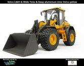 Rebuilt:-Volvo-L60H-Shovel-DIEPE-ALU.-VELGEN-&-BREDE-BANDEN-+-VAB-STD-snelwissel-+-bak--1:32---AT3200120-R