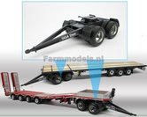 Rebuilt-Siga-DUO-Dolly-Siku-Farmmodels-vrachtwagen-dubbellucht-banden-1:32--SK2887-R