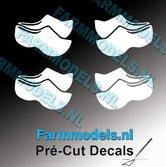 4x-afb.-Klompjes-dicht-WIT-op-transparante-stickers-5-mm-hoog-Pré-Cut-Decals-1:32-Farmmodels.nl