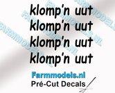 4x-klompn-uut-ZWART-op-transparante-stickers-1.7-mm-hoog-Pré-Cut-Decals-1:32-Farmmodels.nl