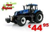 New-Holland-T8.435-BLUE-met-TRELLEBORG-banden-zeer-gedetaileerd-model-Marge-Models-1:32-SUPER-SALE