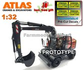Atlas-160W-mobiele-kraan-+-NOKIAN-banden-+-Atlas-bak-+-GRATIS-stickerset--1:32--AT3200150--EXPECTED-Juli--August-2019