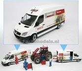 CASE-SERVICE-Custom-Made-Mercedes-Benz-Sprinter-WIT-+-opdruk-Hamoen-L.M.B.-Case-IH-&-Steyr-Service-1:32--MM1905-01-R