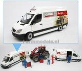 CASE-SERVICE-Premium-Mercedes-Benz-Sprinter-WIT-+-opdruk-Case-Service-&-afbeelding-trekkers-1:32--MM1905-01-R