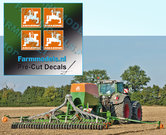 4x-LOGO-AMAZONE-ORANJE--WIT-stickers-op-Transparant-10-mm-hoog-Pré-Cut-Decals-1:32-Farmmodels.nl