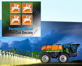 4x-LOGO-AMAZONE-ORANJE--WIT-stickers-op-Transparant-12-mm-hoog-Pré-Cut-Decals-1:32-Farmmodels.nl