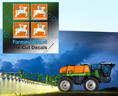 4x-LOGO-AMAZONE-ORANJE--WIT-stickers-op-Transparant-14-mm-hoog-Pré-Cut-Decals-1:32-Farmmodels.nl