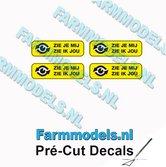 4x-ZIE-JE-MIJ-ZIE-IK-JOU-Zwarte-tekst-gele-stickers-afm.-3.1-x-10-mm-Pré-Cut-Decals-1:32-Farmmodels.nl