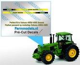 John-Deere-4240-S-type-stickers--Pré-Cut-Decals-voor-Schuco-JD-4850--4955-motorkap-1:32-Farmmodels.nl