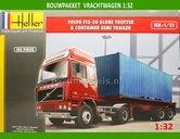 Volvo-F12-20-Globe-Trotter-&-Container-Bouwpakket-1:32-Heller-hel81702