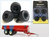 Set-van-4-Michelin-Cargo-XBib-banden-+-velgen-+-afdekkapjes--Ø-43.6-mm-1:32--AT3200107--SUPERSALE
