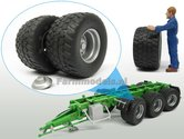 2x-Michelin-Cargo-XBib-banden-+-METALIC-ZILVERGRIJZE-velgen-+-afdekkapjes--Ø-43.6-mm-1:32--AT3200107